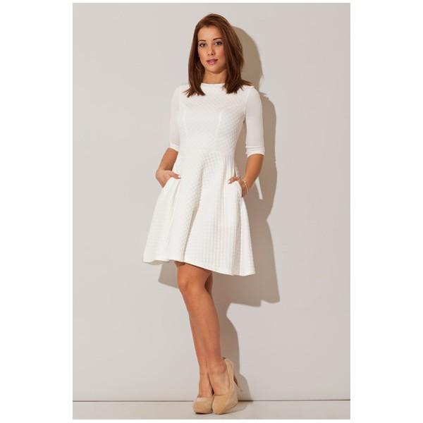 cf0aa44fe033 Dámske šaty Figl M235 biele