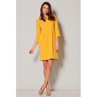 2ada1c506f4f Dámske šaty Figl M 249 žlté - výprodej
