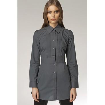 Dámska košeľa Nife K 19-šedá - výpredaj