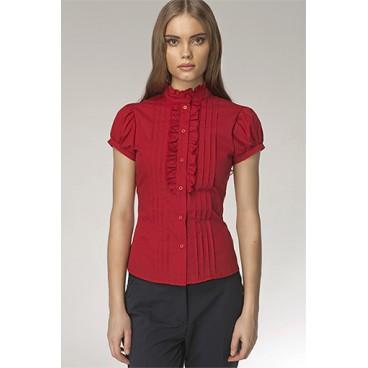 Dámska košeľa Nife K 26-červená