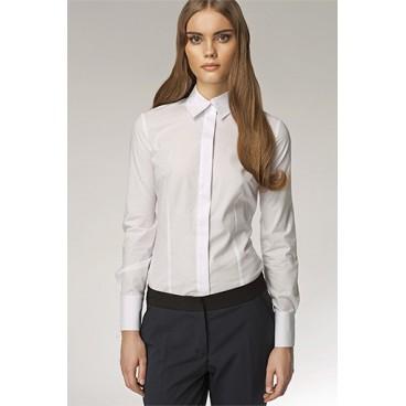 Dámska košeľa Nife K 31-biela