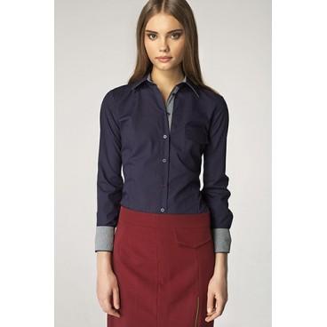 Dámska košeľa Nife K36-modrá + kostička