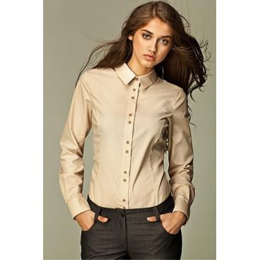 Dámska košeľa Nife K 38-béžová