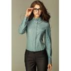 Dámska košeľa Nife K 37-tyrkysová kostička