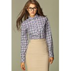 Dámska košeľa Nife K 37-fialová kostička