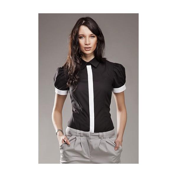 75ecaf48b7bf Dámska košeľa Nife K 33-čierna. Zdieľať na Facebooku ...