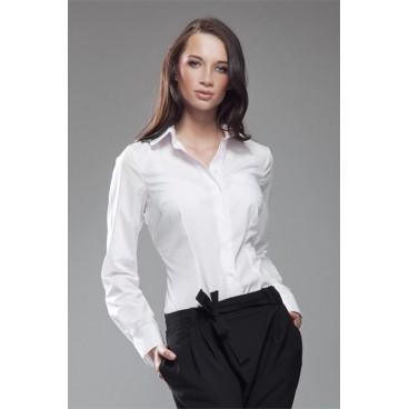 32aea99903c0 Dámska košeľa Nife K 35-biela - výpredaj