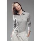 Dámska košeľa Nife K 34-béžová - výpredaj veľkosť 36