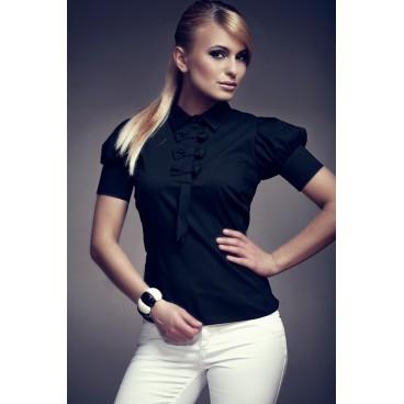 Košeľa Figl 8 čierna