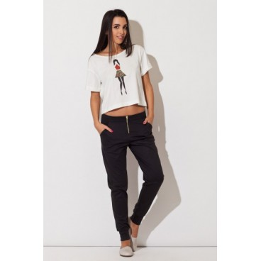 Dámske nohavice Katrus K 153 čierne - výpredaj
