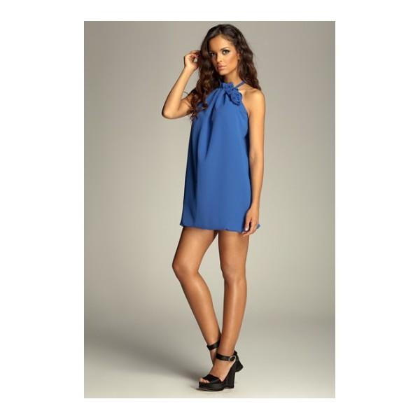 f6ec2dd36 Dámske šaty Figl 65 modré - výprodej. Zobraziť všetky obrázky