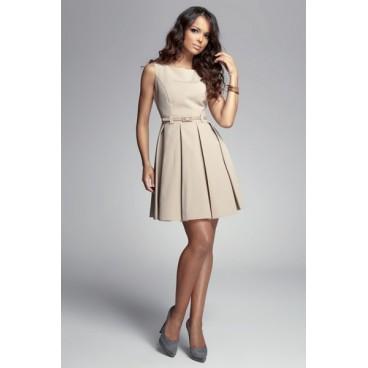 Dámske šaty Figl 83 béžové