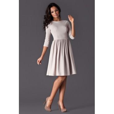 Dámske šaty Figl 117 béžové - výprodej