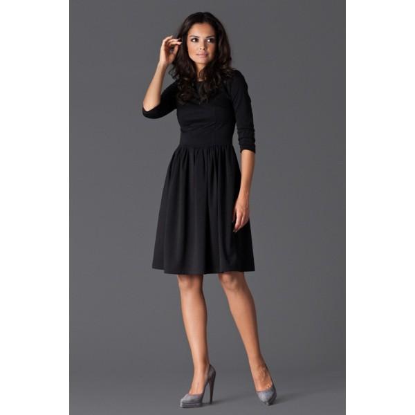 45a34d046 Dámske šaty Figl 117 čierne - výprodej