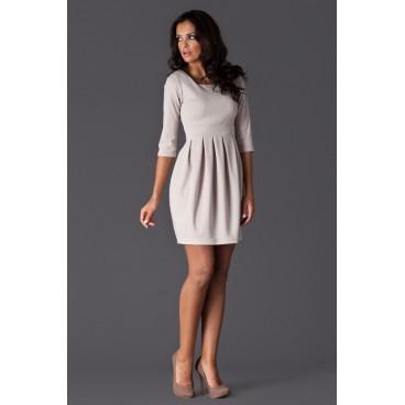 Dámske šaty Figl 122 béžové - výprodej