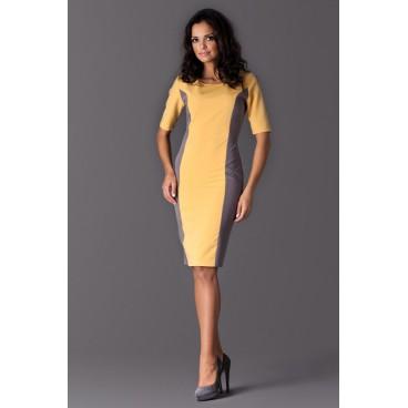 Dámske šaty Figl 130 zlato sivé