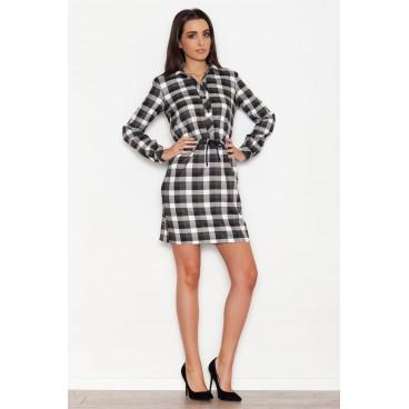 Dámske šaty Katrus K - 256 - čierno-biele - 45909fb19e2