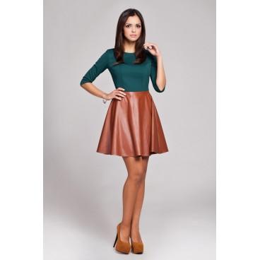 Dámske šaty Figl 162 zeleno - hnedé - výprodej