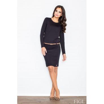 Dámske šaty Figl M 414 čierne - 2f016b73eb9