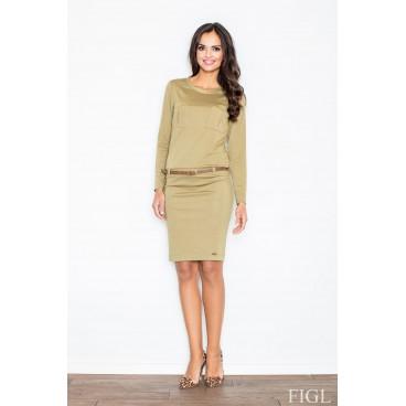 Dámske šaty Figl M 414 zelená - olivová