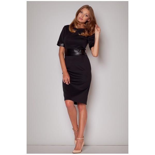 Dámske šaty Figl M204 čierne. Zdieľať na Facebooku ... 3230d8ce784