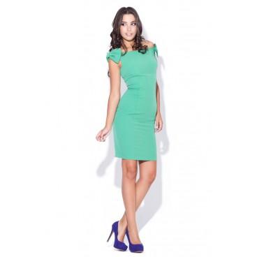 597e0e689314 Dámske šaty Katrus 028 zelené
