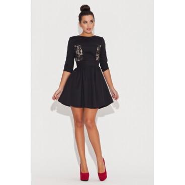 8fd294b8bb00 Dámske šaty Katrus 068 čierne - výpredaj