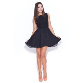 Dámske šaty Katrus 007 čierne - výpredaj