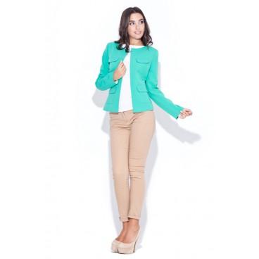 Dámske sako Katrus 048 zelené - výpredaj veľkosť XL