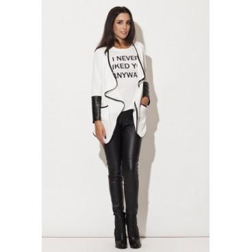 Dámske sako K 112 - biele výpredaj veľkosť L