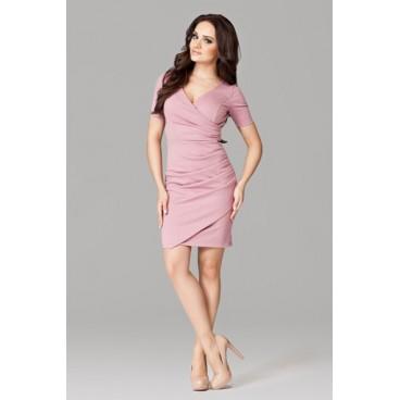Dámske šaty Figl 106 ružové