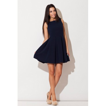 f714b8d5d8 Dámske šaty Katrus K-128 - modré - výpredaj