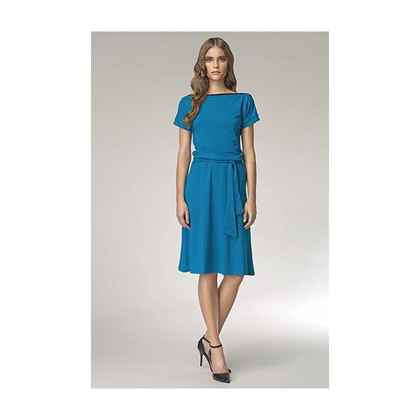 Dámske šaty Nife S13 modré. Zobraziť všetky obrázky 5c990571a5d