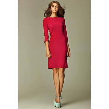 Dámske šaty Nife S30 bordó - růžové